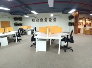 Bank of desks
